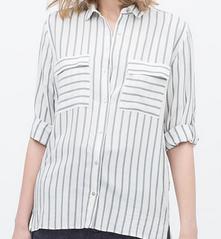 【マザーゲーム 3話】安達祐実着用のストライプシャツ