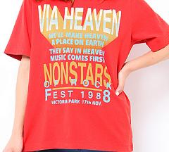 心がポキッとね9話で水原希子が着ていたレッドTシャツ