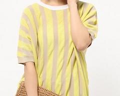 探偵の探偵で川口春奈が着用の黄色のボーダートップス