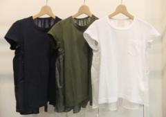 sacai(サカイ)キュプラ切り替えTシャツ