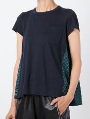 sacai(サカイ)スカーフパネル Tシャツ