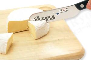 MACのモーニングナイフでチーズをカット
