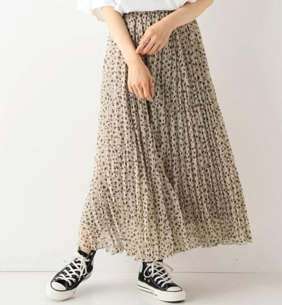 フレームワーク楊柳プリーツスカート