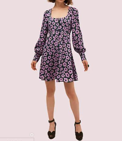 Kate Spade(ケイトスペード)フレア フローラ フルイド ミニ ドレス