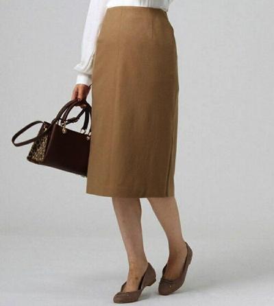 UNTITLED(アンタイトル)ミルドウールジャージサイドスリットタイトスカート