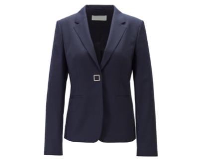 HUGO BOSSSlim-fit jacket in patterned virgin wool