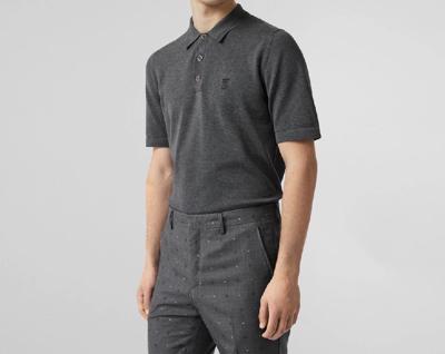 BURBERRY 19AW モノグラムモチーフ コットン ポロシャツ