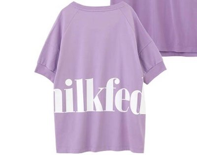 MILKFED. BACK BIG LOGO TOP