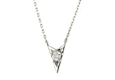 festaria bijou SOPHIAPt900/850 Wish upon a star ダイヤモンド ペンダント