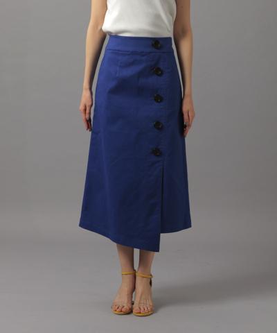 AndemiuボタンスリットAラインスカート