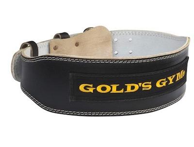 GOLD'S GYM(ゴールドジム)ブラックレザーベルトG3367