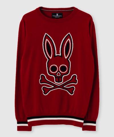 Psycho Bunny(サイコバニー)ビックロゴ クルーネックニット