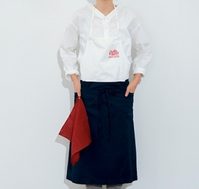 simply PRINTED BI-COLOR APRON(Long) 栗原心平 番組着用品