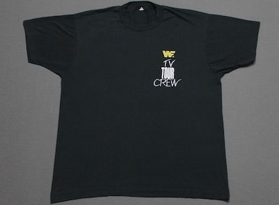 Pricing & HistoryL * thin vtg 1990 WWF WRESTLING tv tour crew screen stars t shirt