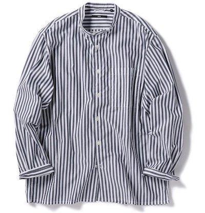 SHIPS(シップス)SC: バンドカラー リラックス ボックス シャツ
