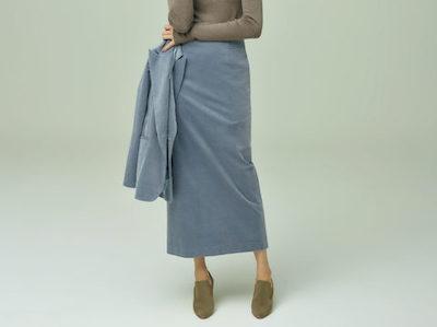BLUEBIRD BOULEVARDコーデュロイマキシスカート