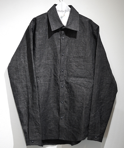 FRANK LEDER CHARCOAL DYED SHIRTS MOSAIC CHECK