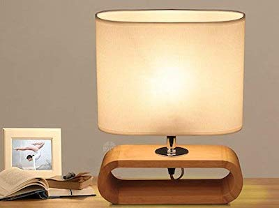 oaklightingモダン北欧楕円形木製テーブルランプ