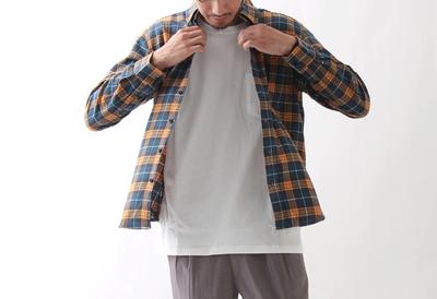 ZIP FIVE無地&チェックネルシャツ