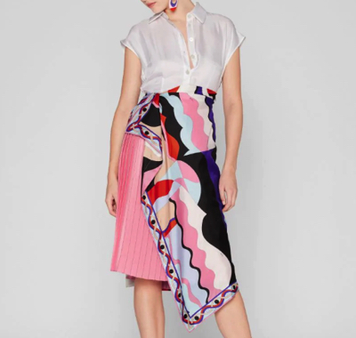 EMILIO PUCCISleeveless Vallauris Print Panel Dress