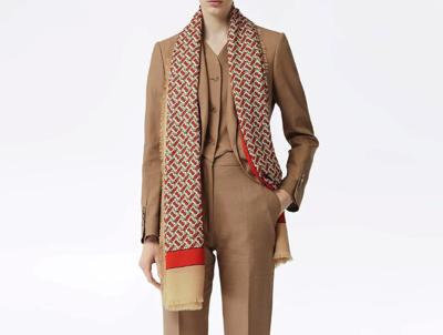 BURBERRYモノグラム カシミアスカーフ