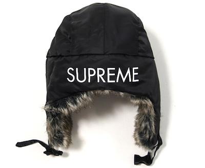 Supreme(シュプリーム)Flight Satin Trooper Hat