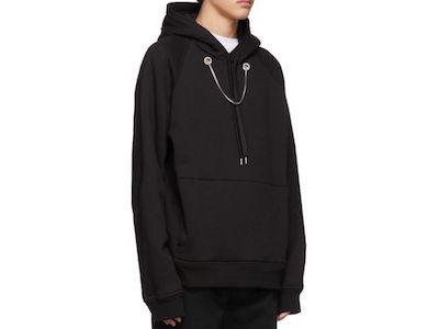 Neil Barrett(ニール バレット)black oversized beefy chain hoodie