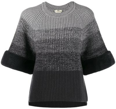 FENDI(フェンディ)グレーウール グラデーション セーター