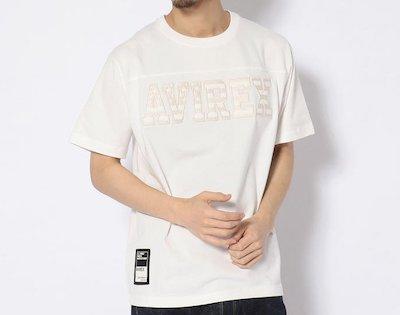 AVIREX(アヴィレックス)星条旗ロゴ フットボールTシャツ/STARS&STRIPES LOGO FOOTBALL T-SHIRT