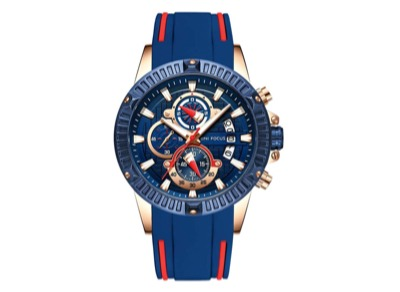 MINI FOCUS(ミニ フォーカス)腕時計 お洒落 クオーツ メンズ ラバー