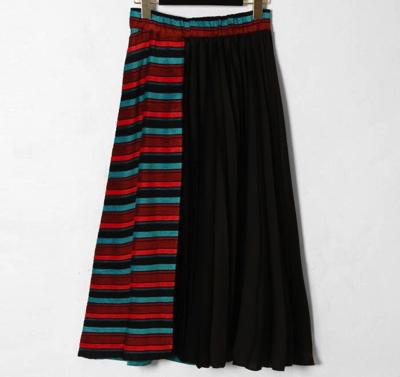 GRACE CONTINENTAL(グレースコンチネンタル)ボーダー切替プリーツスカート
