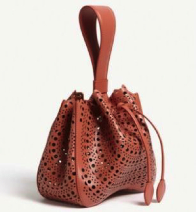 AZZEDINE ALAIA(アズディン アライア)Leather top-handl(サッチェル ショルダーバッグ)