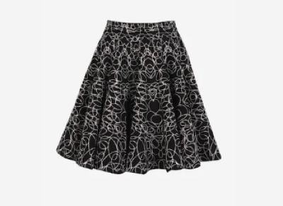 AZZEDINE ALAIA(アズディン アライア)ブレンド製 アブストラクトスカート