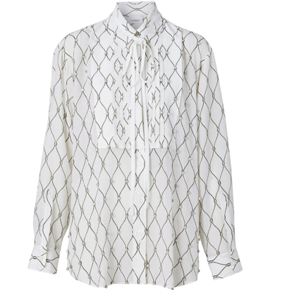 BURBERRY(バーバリー)ビジューディテール シャツ