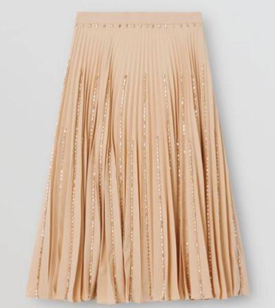 BURBERRY(バーバリー)クリスタルディテール プリッセソレイユ ストレッチキャディ スカート