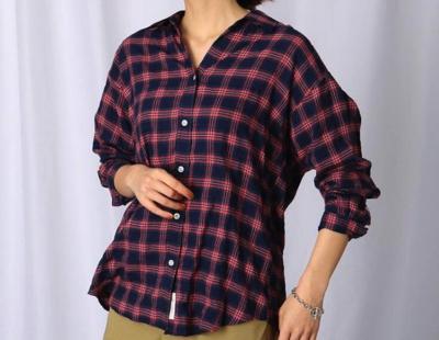 JET(ジェット)【洗える】コットンレーヨンチェックシャツ