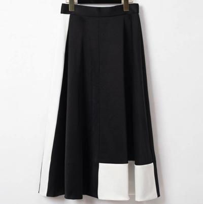 GRACE CONTINENTAL(グレースコンチネンタル)バイカラーサテンスカート