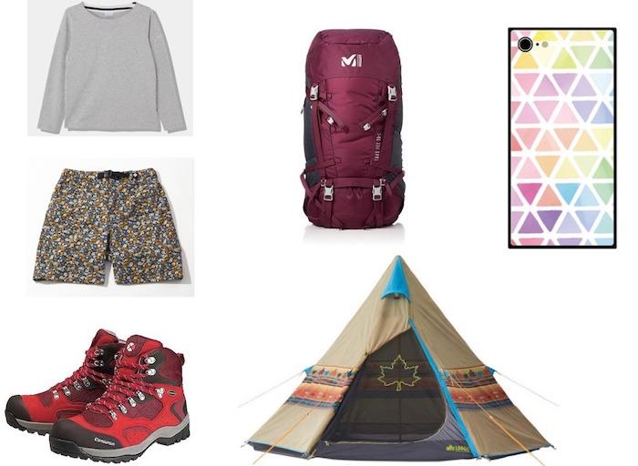 ひとりキャンプで食って寝る第7話黒川芽以のアウトドアファッション(テント衣装リュックスマホケース)