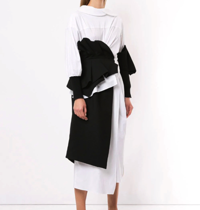 ENFÖLDasymmetrical wrap dress