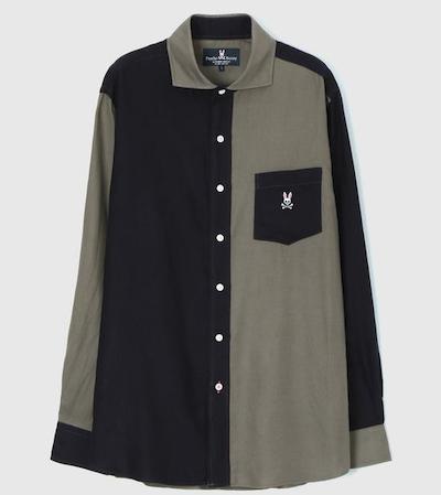 Psycho Bunny(サイコバニー)テンセルツイル クレイジーパターンシャツ