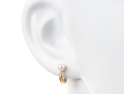 STAR JEWELRY(スタージュエリー) K10 イヤリング WHITE TOPAZ & PEARL CLIP EARRINGS