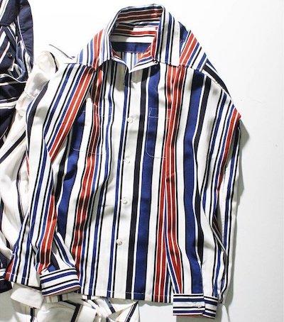 RATTLE TRAP(ラトルトラップ)マルチストライプオープンカラーシャツ