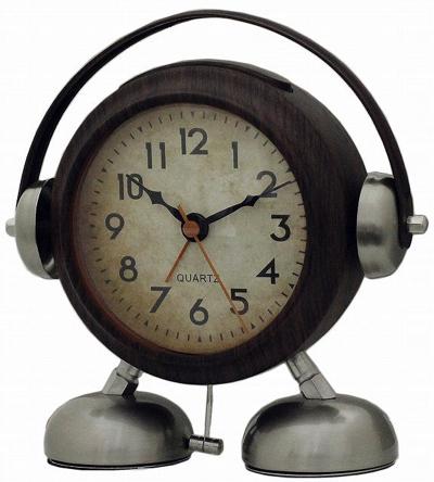 CREPHA(クレファー) (目覚まし時計) ビッグサウンドフットベル目覚まし時計アミーゴ (ウッド)