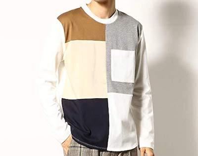 COMME CA COMMUNE(コムサコミューン)パッチワーク 長袖Tシャツ