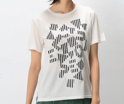 L'EQUIPEボンディングオパールロゴTシャツ