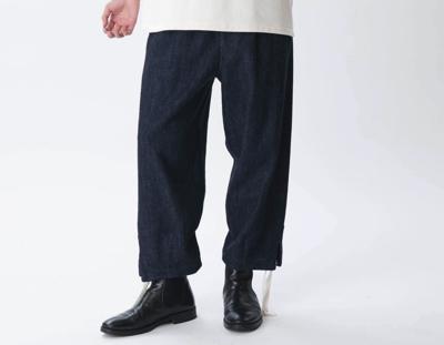 KURO(クロ)Loose Denim Easy Pants / Indigo