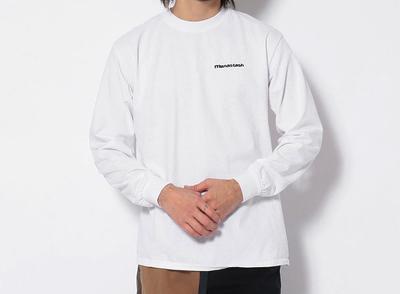 MANASTASH(マナスタッシュ)EMBROIDERED LOGO LONG SLEEVE TEE 刺繍ワンポイント長袖Tシャツ