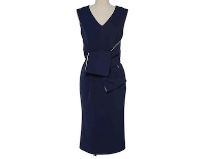 DRESS LABリボン 袖なし ワンピース ドレス 結婚式 フォーマル パーティードレス
