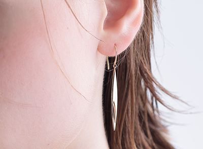 STAR JEWELRY(スタージュエリー) K10 ピアス LEAF HOOK PIERCED EARRINGS
