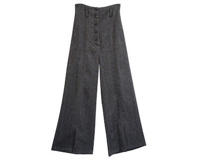 SALT+[19AW] HERRINGBONE HIGH WAIST PANTS